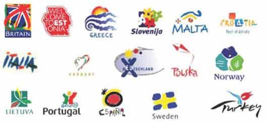 Логотипы стран активно эксплуатируются в туристическом бизнесе.